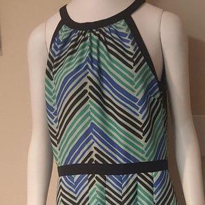 Talbots Striped Maxi Dress Size 6
